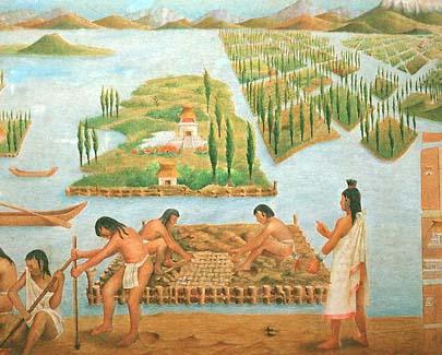 Aztec gardens (chinampas)