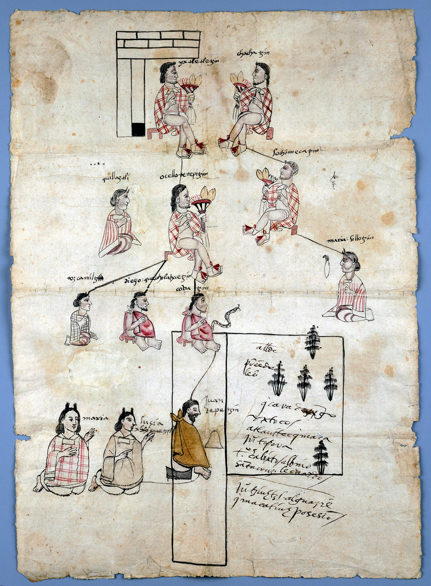 Page from Aztec land record
