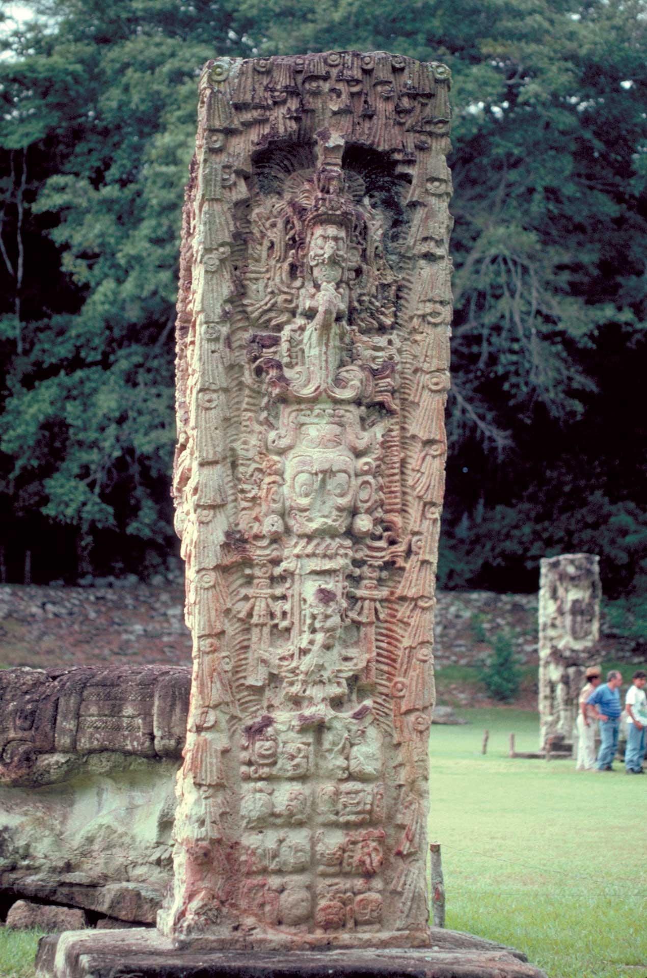 Maya stela at Copán